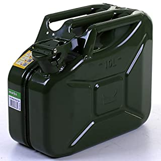 Marko Auto Accessories 10L Metal Jerry Can Petrol Diesel Oil Fuel Water Container Tank UN/ADR Approved