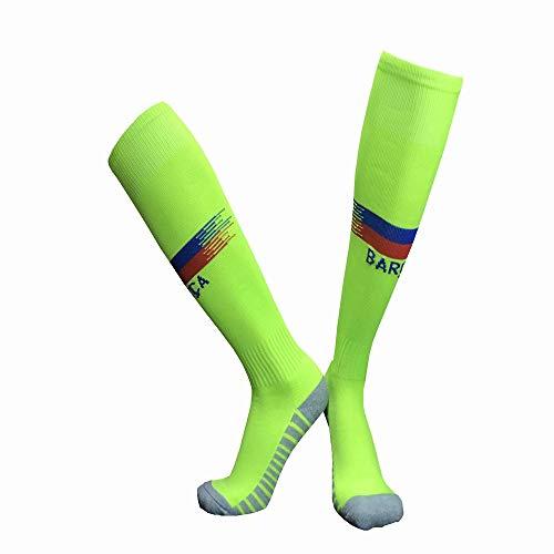 LDQLSQ Kindersocken Schüler neuen Club Slip Outdoor Football Socks Gruppe kaufen Lange Tube über die Knie Sports Training Socks Jugend Fußball-Socken Outdoor Sport,Yellow
