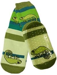 Weri Spezials Unisexe Bebes et Enfants ABS Eponge Cameleon Pantoufle Chaussons Chaussettes Antiderapants Vert