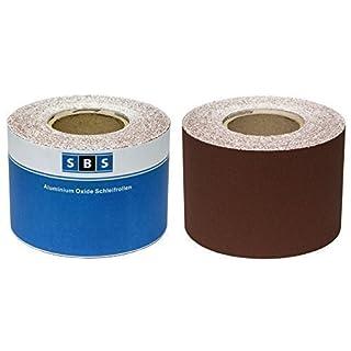 SBS Schleifpapier Rolle | 115 mm x 10 m | Korn 40 | Aluminiumoxid Rolle