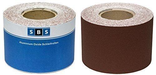 SBS® Schleifpapier Rolle | 115 mm x 10 m | Korn 80 | Aluminiumoxid Rolle
