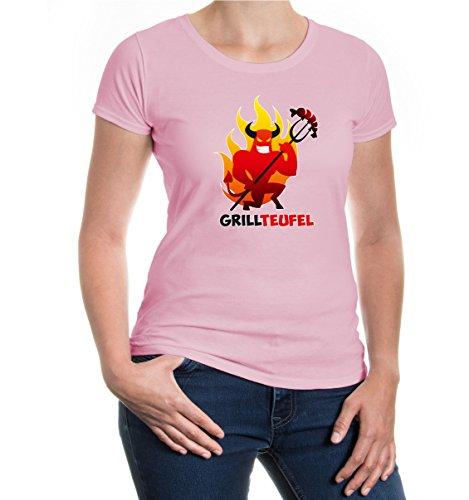 buXsbaum® Girlie T-Shirt Grillteufel Lightpink-z-direct