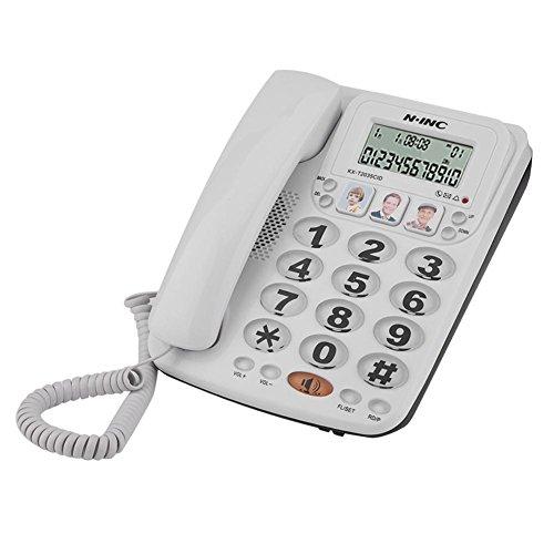 VBESTLIFE Schnurgebundenes Telefon, 2-Schnur Telefon mit Freisprecheinrichtung und Anrufer ID für Home/Office (Anrufer-id Telefone Mit)