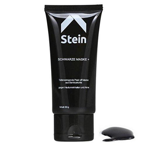 #Stein | Hochwertige Peel off Maske + | schwarze Gesichtsmaske gegen Mitesser und Akne#