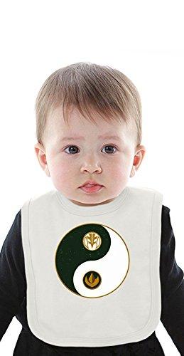 Tommy's Yin Yang Logo Organic Bib With Ties Medium