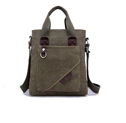 Wmshpeds Gli uomini di spalla borsa di tela Casual Messenger Bag zaino uomini borsetta B