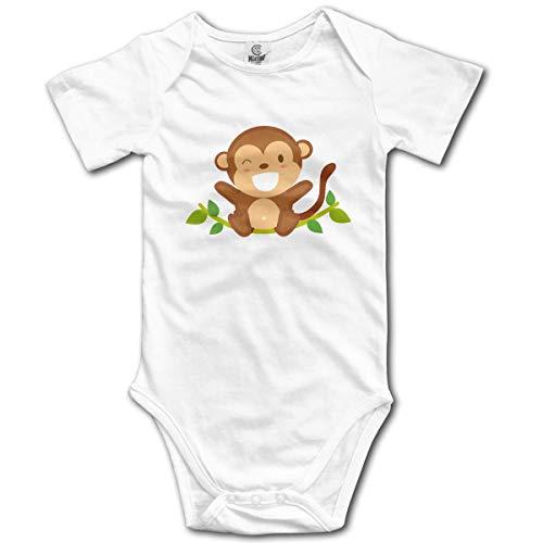 Klotr Unisex Baby Body Kurzarm Monkey Newborn Bodysuits Baumwolle Strampler Outfit Set (Ersten Geburtstag Monkey)