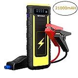 VETOMILE Avviatore di Emergenza - 800A 21000mAh Avviatore Batteria Booster Auto Portatile, 12V Jump Starter con Torcia Elettrica a LED, Doppie Porte USB