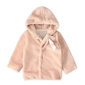 kewing Baby Mädchen Winter Mantel mit Kapuze – Kleinkind Kind Winter Herbst Warmes Jacken Outwear Coat