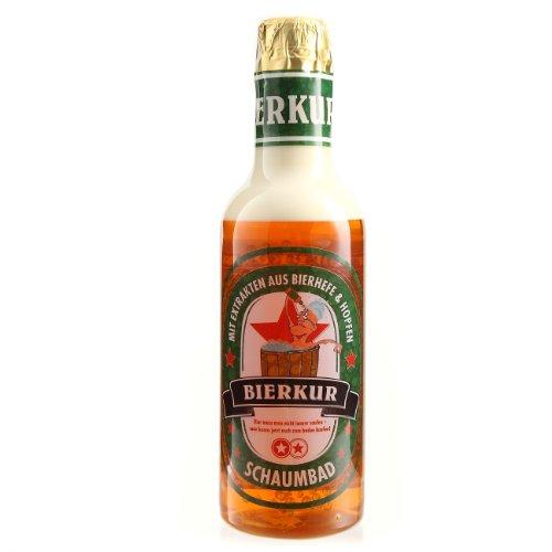 Lustapotheke® Zweikomponentiges Männer Schaumbad - Bierkur - zum Geburtstag in Form einer Bierflasche