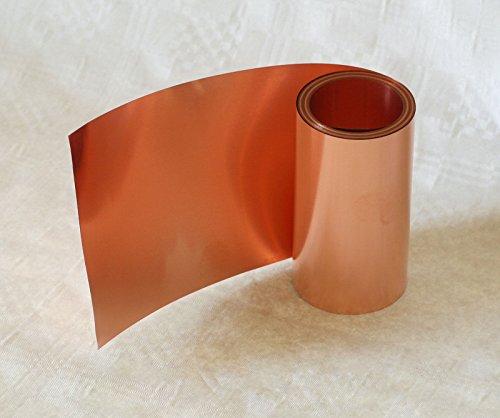 Kupferband, 0,2 x 100 mm, 5,0 mtr. lang