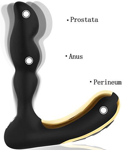 Proxoxo Analplug Prostata Massage Medizinischem Silikon Vibratoren Perineum Prostate Stimulator Vorsteherdrüse Anal Butt Plug Analvibratoren 10 Vibrationsmodi Sexspielzeug für Männer