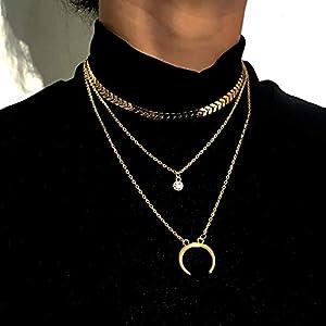 XUHAHAXL Halskette/Mode-Accessoires, Persönlichkeit, Kreativität, Sexy Straße, Halskette, Legierung Anhänger, Anhänger, Multi-Layer-Halskette.