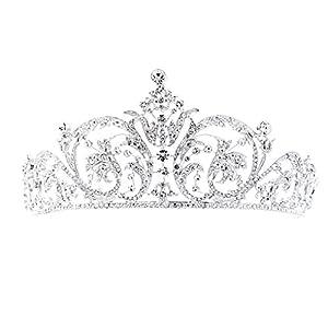 SEPBRIDALS Klassisch Kristalle Strass Hochzeit Brautschmuck Tiara Diadem Königlich Krone Frauen Haar Zubehör xby158