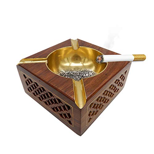 IndiaBigStore Handgefertigte Vintage Holz Zigarette Aschenbecher persönliche benutzerdefinierte...