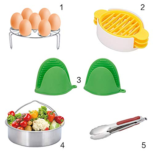 ZJL220 Ideal Kitchen Accessories with Stainless Steel Steamer, Non-Stick Spring Pot, Egg Tart Mold, Steamer Holder, Mini Gloves 3