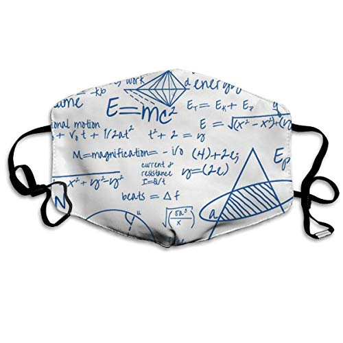 Common Equations - Blue Ink Small Mask Mouth Mask Neck Gaiter Mask Bandana Balaclava Easter St. Patrick's Day (Small Mouth Guard)