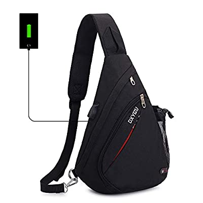 26194a22cb Sling Bag Chest Shoulder Backpack SINOKAL Casual Crossbody Shoulder  Triangle Packs Daypacks for Men Women Canvas Digital Camera Bags with  Charging Port for ...