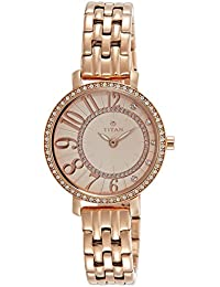 Titan Analog Rose Gold Dial Women's Watch-NK95041WM01