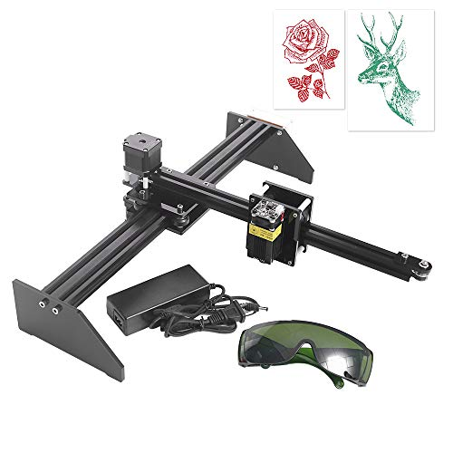TOPQSC Uttiny Zeichnungsroboter, 500MW Hochpräziser DIY XY-Plotter als Lackierroboter Handschreibroboter mit Lasergravur-Funktion
