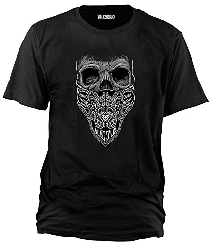 Wolkenbruch® T-Shirt Bandana Totenkopf, Gr.L