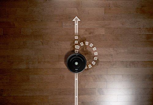 iRobot Roomba 671 Aspirateur Robot, Système de Nettoyage Puissant avec Dirt Detect, Aspire Tapis, Moquettes et Sols Durs, Nettoyage sur Programmation, Connexion Wi-Fi, Noir