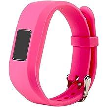 For Vivofit JR.2 Bands, Large Replacement Wristbands for Garmin vivofit JR2, Active Bright Colors Silicone Straps for Garmin vivofit jr. 2, Pink
