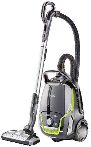 AEG UltraOne VX9-1-ÖKO Staubsauger mit Beutel EEK A (850 Watt, nur 66dB(A), inkl. Hartbodendüse, 12 m Aktionsradius, 5 Liter Staubbeutelvolumen, waschbarer Allergy Plus Filter) schwarz/grün