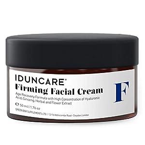 Iduncare Crema Facial Reafirmante – Crema de Cara Antiedad con Vitamina C & Ácido Hialurónico – Mejor Crema Hidratante para Piel Seca, Arrugas & Manchas en la Piel – 50 ml