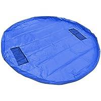 Preisvergleich für Geshiglobal 150cm Kinder Spielzeug Organizer-Tasche mit Play Mat Blanket Box Picknick Teppich saphirblau