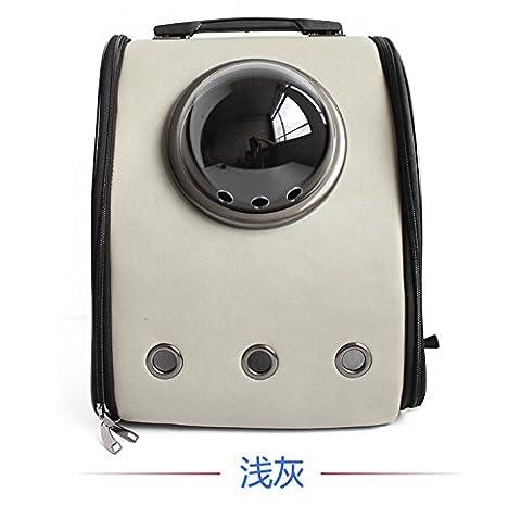 KAI-Les paquets Pet pet portable sac à dos chien respirant poche?32X22X40cm?Light gray