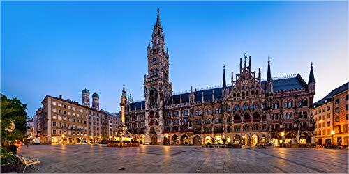 Fineart Bild bis 280 cm Breite, München Rathaus Marienplatz, als Wanddeko, Wandbild Foto in Galerie Qualität echter Fotoabzug mit Schutzlack auf Original Aluminium Dibond©