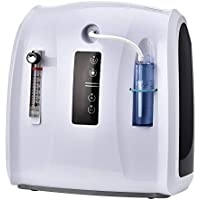 ETE ETMATE Concentrador de oxígeno portátil Generador Concentrador de oxígeno 1-6L / min Pantalla de sincronización LED Máquina de oxígeno portátil ajustable para uso doméstico y de viaje