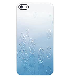 ColourCraft Lovely Bubbles Design Back Case Cover for APPLE IPHONE 4S