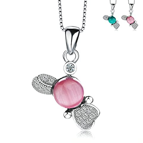 AMDXD Jewelry Silver Plated Women Pendant Necklace Green Animal Birthady Gift