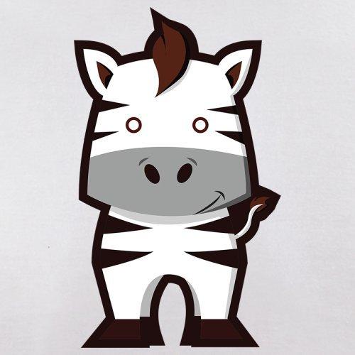 Cute Zebra - Herren T-Shirt - 13 Farben Weiß