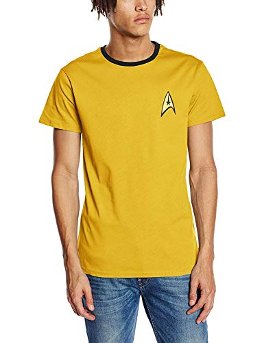 Star Trek - Engineering Uniform - T-shirt - taille normale - Manches courtes - Homme - Jaune (Yellow) - X-Large