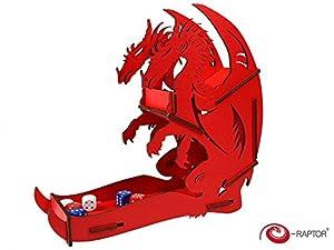 E-Raptor era31715Dados Torre dragón Juego de Mesa, Rojo, Grande