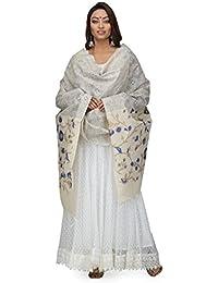 The Weave Traveller Handloom Hand Block Printed Khadi Cotton Dupatta For Women's/Girl's