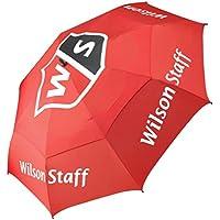 Wilson Staff, Paraguas, Resistente dosel antiviento a prueba de tormentas, Diámetro: 173 cm, Plástico, Tour, Rojo, WGA092500