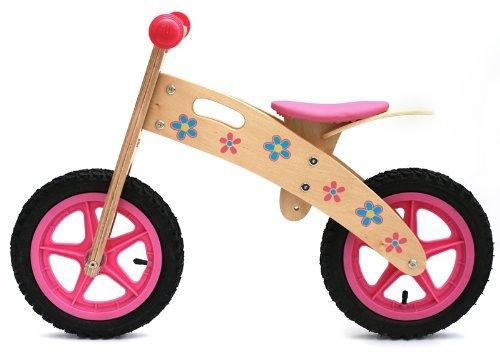 Ooowee Pink Wooden Balance Bike