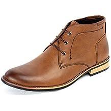 Botines Hombre Moda Informal Motero Zapatos Formales Inteligentes RU 6 7 8 9 10 11 NUEVO
