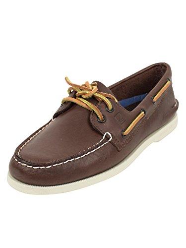 Sperry Top-Sider Hombre 2 auténticos zapatos del barco de los ojos, Marrón,