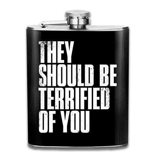 The Last of Us II They should be Terrified of You, fiaschetta tascabile con bandiera in acciaio inox, 200 ml