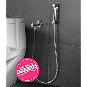 Kibath 414151 higiene íntima con instalación sin Obra sustituto del Bidet. Grifo para WC. Sólo Agua fría, Cromo Brillo