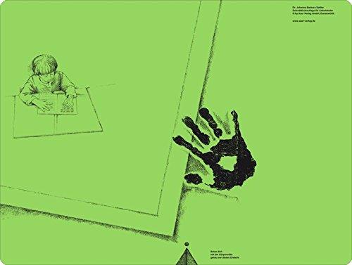 Schreibtischauflage für Linkshänder Pinie-Grün: Alle Klassenstufen (Linkshändigkeit)