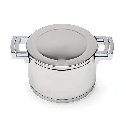 BergHOFF Neo Pro Spiegel Finish Induktion Safe Kasserolle mit Deckel, Silber, 18cm, 2,4Liter