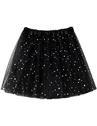 b8233fd3d08b HCFKJ 2018 Femmes plissée en gaze Jupe de danse adulte Tutu Paillettes  étoiles Fil Star
