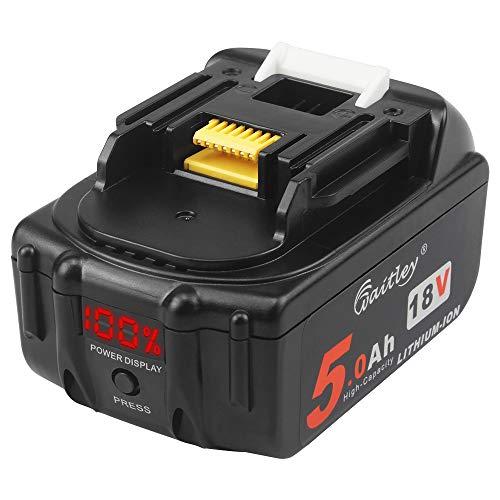 Waitley BL1850b 18V 5Ah akku kompatibel mit Makita 18V Lithium-Ionen Ersatzakku BL1830b BL1840b BL1860b mit LED Indikator
