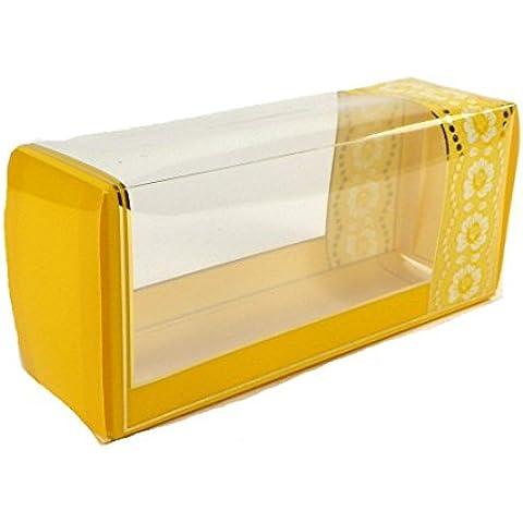 10pieza del paquete de regalo con ventana del paquete regalo decorativo para, plástico, S-VP-Gelb